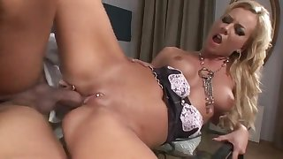 Skinny maid Angelina Carry the grinds dong with eroded cunt
