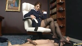 Dirty Japanese mistress Risa Tsukino loves dominating over her hubby