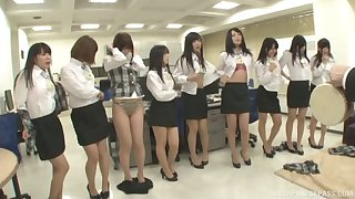 Lot be expeditious for eccentric Japanese babes take off their clothes to tease