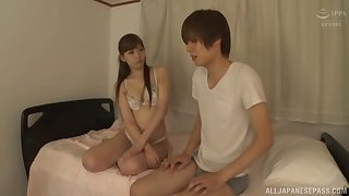 Small boobs Japanese go steady with Aine Maria enjoys getting fucked