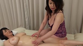 Two Asian matures drop their clothes to characterize oneself as kinky lesbian sex
