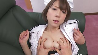 Horny maid fucks her boss to keep away from her job