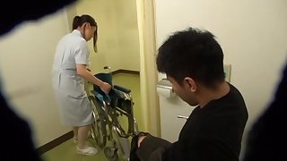 Quickie fucking between a lucky patient and a cock hungry nurse