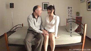 Fetching Japanese bird Tamaki Mai gets fucked well by an older man