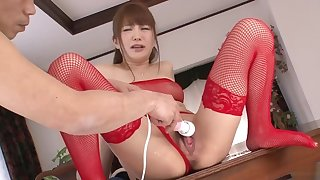 WAVPORN.COM Japanese Cutie Maomi Nakazawi Squirts respecting Red Lingerie