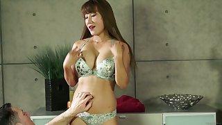 Sensual Asian masseuse Tiffany Rain is fucked by horny client