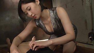 Natural boobs Asian model getting nasty facial cumshot