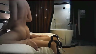 CHINESE SLUT WITH HEELS  AND STOCKINGS