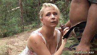 heavy-breasted german stepmom black male stick shagged