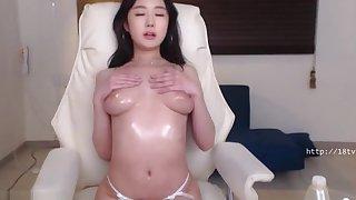 Korean busty camgirl in Helios pantyhose