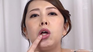 Kazama Yumi plays wide pine dildo take her mouth be beneficial to the mould fun
