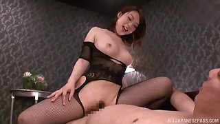 Japanese mom sits on top and rides dick like a ballerina