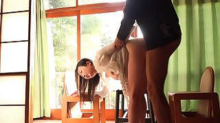 Standing doggystyle quicke sex with angelic Asian Satomi Akari