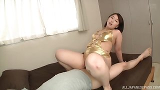 Big ass Japanese mom rides the dick get a kick out of she's a trull