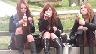 Japanese hotties watched secretly